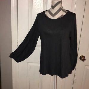 🆕 NWT LOFT Bell Sleeve Cotton Shirt L